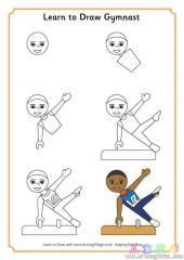 如何画体操运动员 02