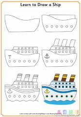 如何画一艘游轮