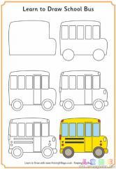 如何画一辆校车