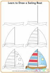 如何画一条帆船