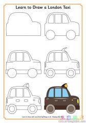 如何画伦敦出租车
