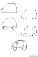 如何画电动小汽车