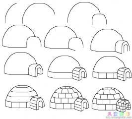 如何画南极的冰屋