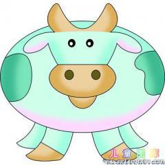 一笔一笔画奶牛