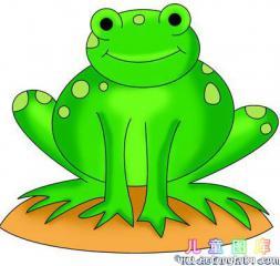 一笔一笔画青蛙
