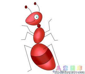 一笔一笔画蚂蚁