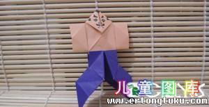 如何折纸武士