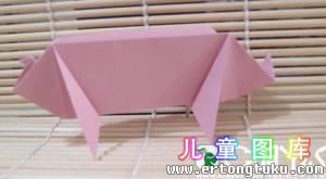 如何折纸猪