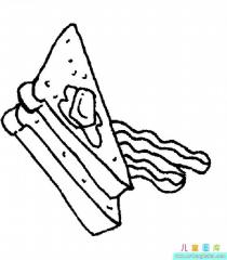 三明治简笔画图片