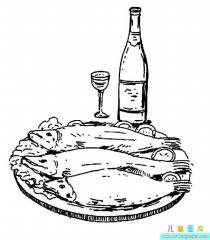 清蒸鱼简笔画图片