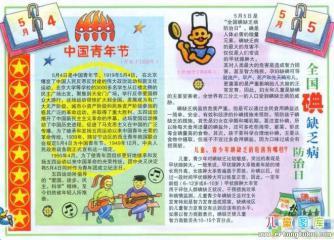 五四青年节手抄报 中国青年节