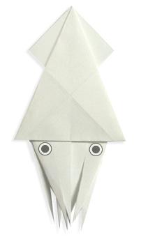 折纸乌贼和步骤图解