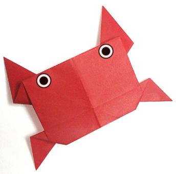 折纸螃蟹和步骤图解