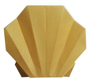 折纸双贝壳和步骤图解