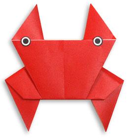 折纸螃蟹和步骤图解 02