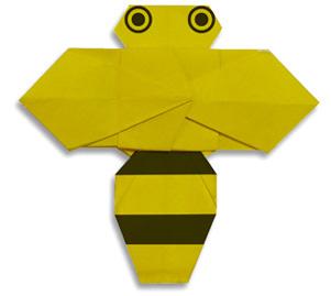 蜜蜂折纸和步骤图解