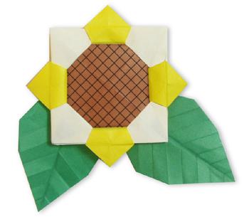 折纸向日葵和步骤图解