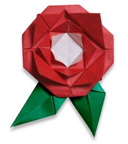 折纸玫瑰和步骤图解