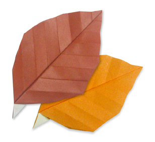 折纸枯叶和步骤图解