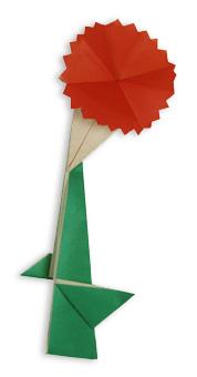 折纸康乃馨和步骤图解