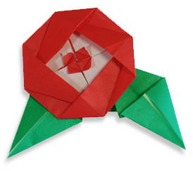 折纸茶花的方法和步骤图解