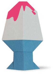 折纸刨冰和步骤图解