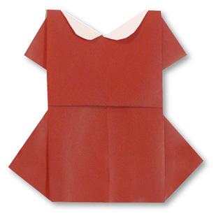 折纸连衣裙的方法和步骤图解 04