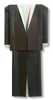 折纸晚礼服的方法和步骤图解
