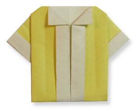 折纸短袖衬衫的方法和步骤图解