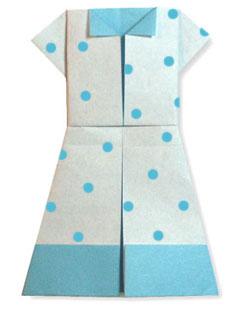 折纸连衣裙的方法和步骤图解