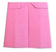 折纸裤裙的方法和步骤图解