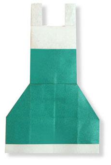 折纸围裙的方法和步骤图解