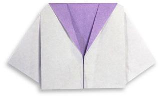折纸女生制服的方法和步骤图解
