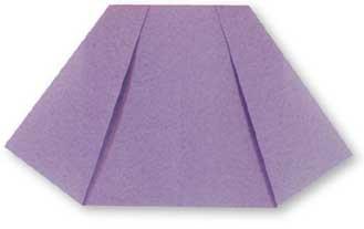折纸裙子的方法和步骤图解 01