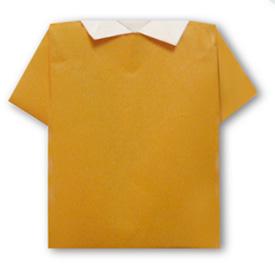 休闲衬衫折纸方法和步骤图解