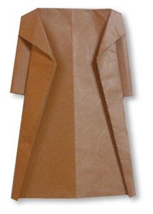 折纸大衣的方法和步骤图解