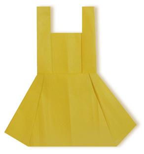 折纸裙子的方法和步骤图解 02