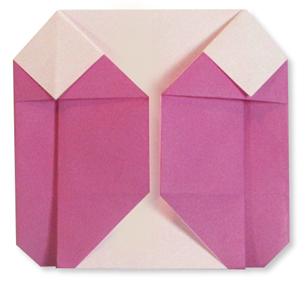 折纸羽绒服的方法和步骤图解