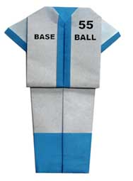 折纸棒球服的方法和步骤图解
