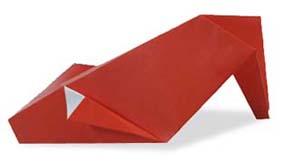 折纸高跟鞋和步骤图解