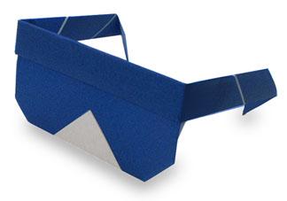折纸太阳镜和步骤图解