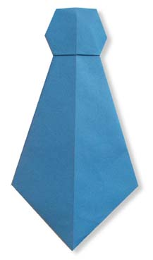 折纸领带和步骤图解