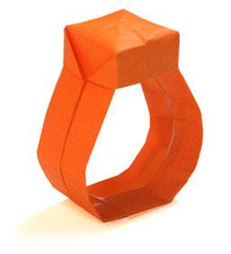 折纸戒指和步骤图解 02