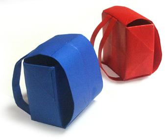 折纸日式书包和步骤图解