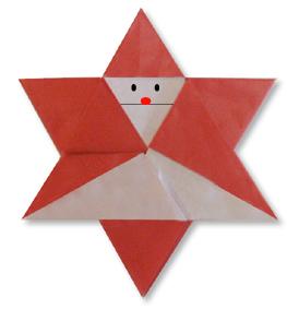 折纸星型圣诞的方法和步骤图解
