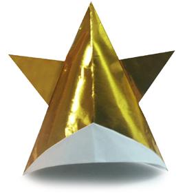 折纸星形帽的方法和步骤图解