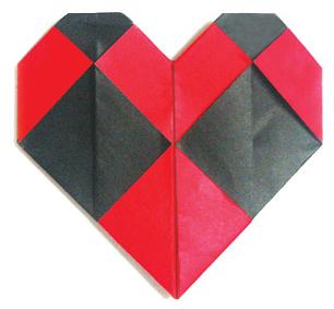 格子心的折纸和步骤图解