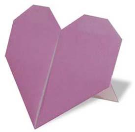 可以站立的心型折纸和步骤图解