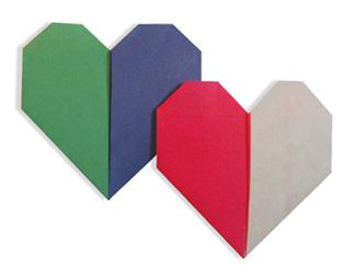 两色心折纸和步骤图解