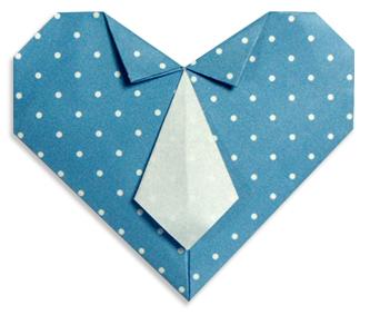 领带心折纸和步骤图解